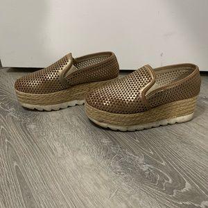 Steve Madden platform shoes.